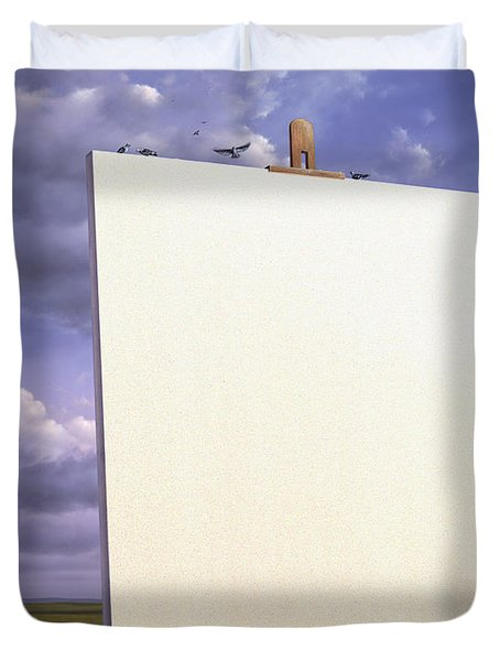 Creative Problems Duvet Cover by Jerry LoFaro