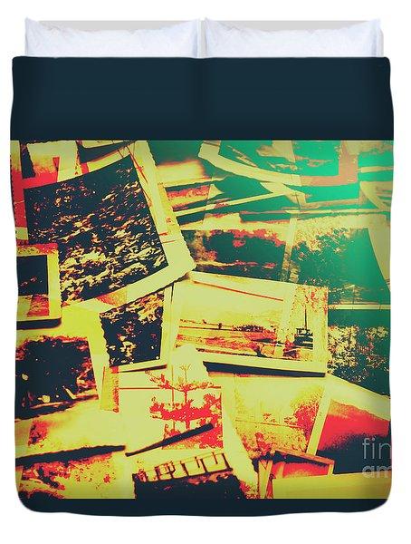 Creative Retro Film Photography Background Duvet Cover