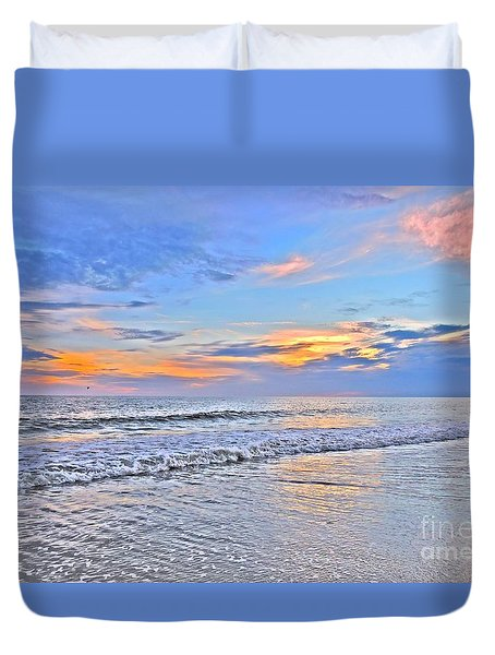 Duvet Cover featuring the photograph Creators Sunset by Shelia Kempf