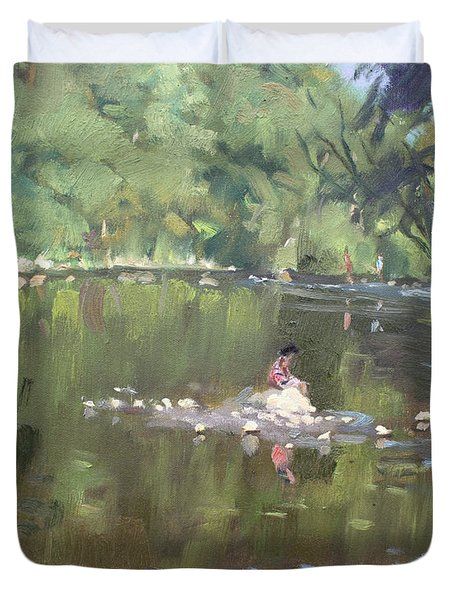Credit River By Norval On Duvet Cover