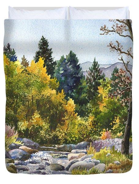 Creek At Caribou Duvet Cover