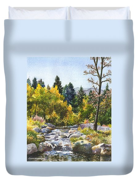 Creek At Caribou Duvet Cover