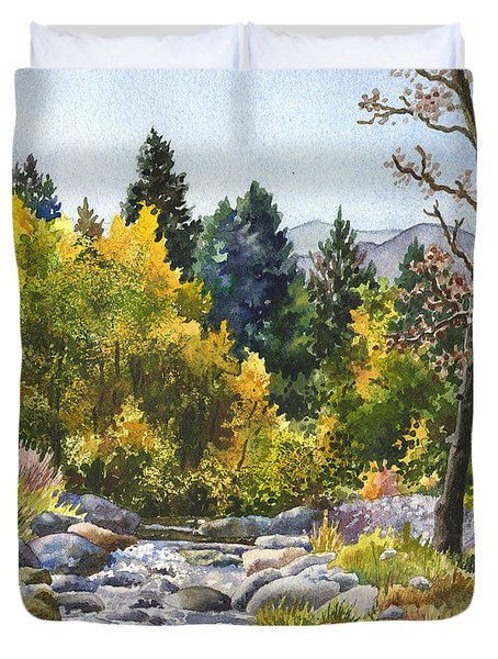 Creek At Caribou Ranch Duvet Cover