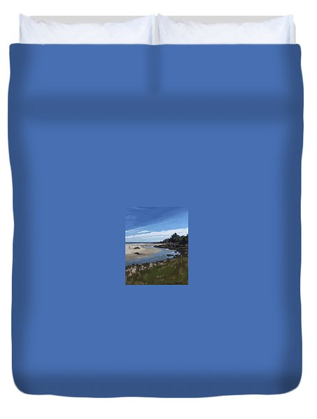 Creek At Good Harbor Beach, Gloucester, Ma., Sept. 23, 2015 Duvet Cover
