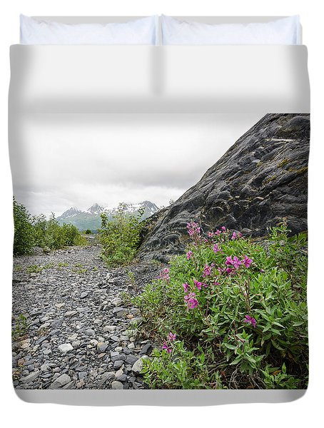 Creek Bed Flowers Duvet Cover