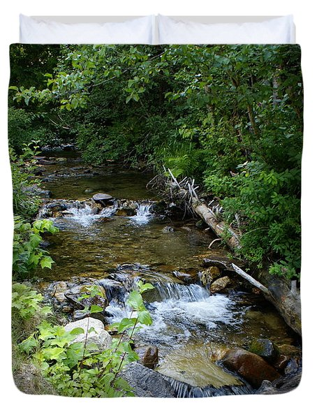 Duvet Cover featuring the photograph Creek On Mt. Spokane 1 by Ben Upham III