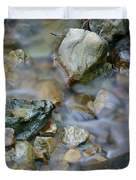 Creek On Mt Tamalpais Duvet Cover