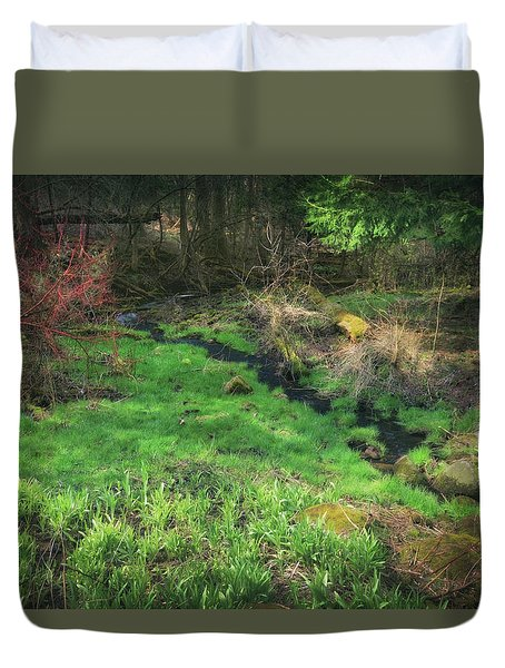 Creek - Spring At Retzer Nature Center Duvet Cover by Jennifer Rondinelli Reilly - Fine Art Photography