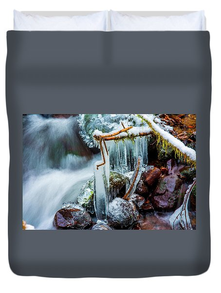 Creekside Icicles Duvet Cover