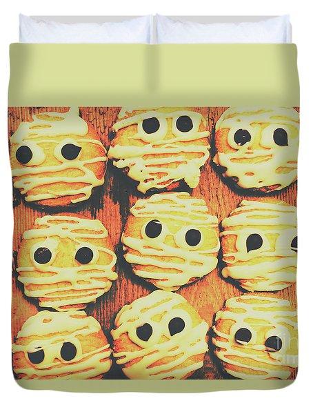 Creepy And Kooky Mummified Cookies  Duvet Cover