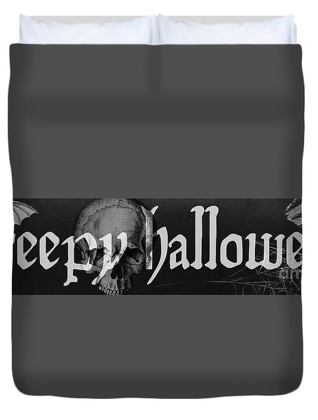 Creepy Halloween Duvet Cover by Mindy Sommers