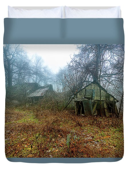 Creepy House Duvet Cover