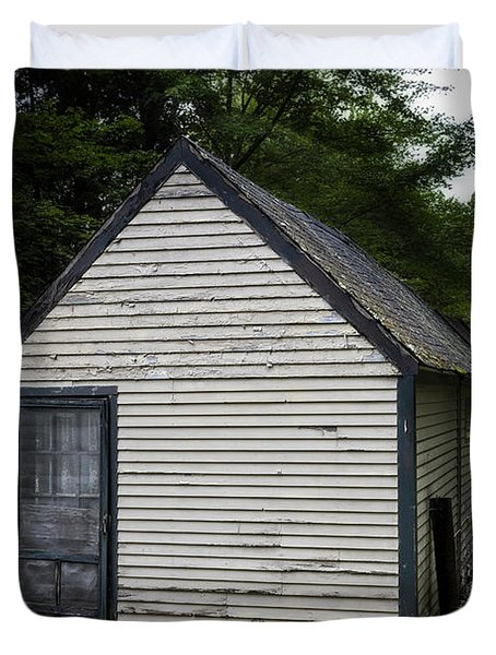 Creepy Old Cabins Duvet Cover