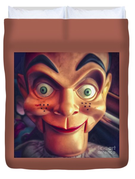 Creepy Puppet Duvet Cover by Gregory Dyer