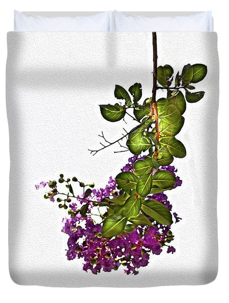 Crepe Myrtle In Oil Duvet Cover