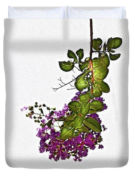 Crepe Myrtle In Oil Duvet Cover