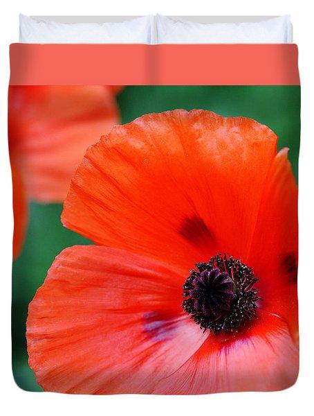 Crepe Paper Petals Duvet Cover