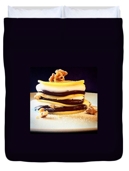 Crepes Nutella Walnuts And Cream Duvet Cover