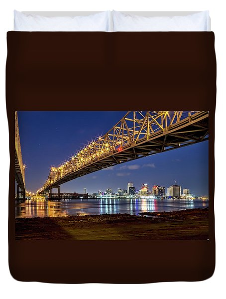 Crescent City Bridge, New Orleans Duvet Cover