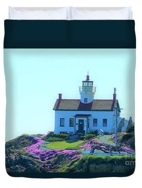 Crescent City Lighthouse Duvet Cover