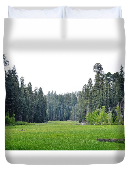 Duvet Cover featuring the photograph Crescent Meadow by Kyle Hanson