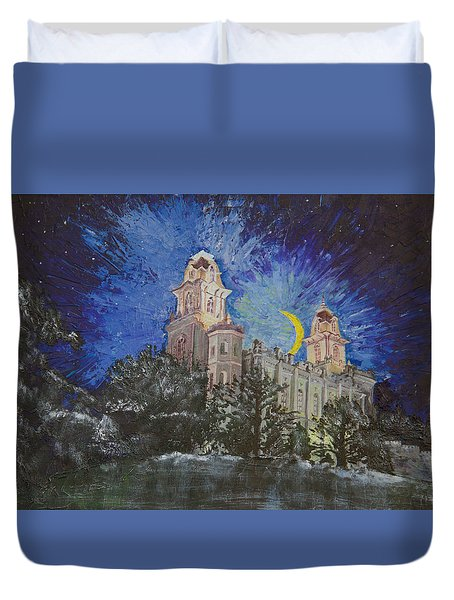 Crescent Moon Duvet Cover by Jane Autry