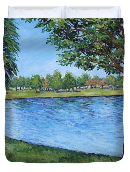 Crest Lake Park Duvet Cover