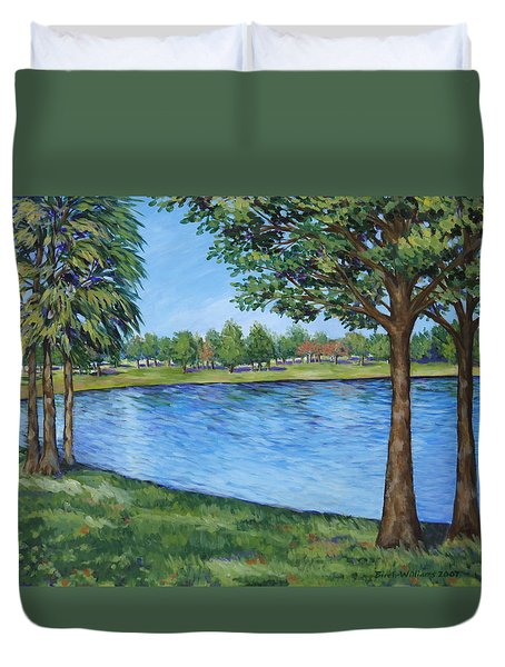 Crest Lake Park Duvet Cover by Penny Birch-Williams