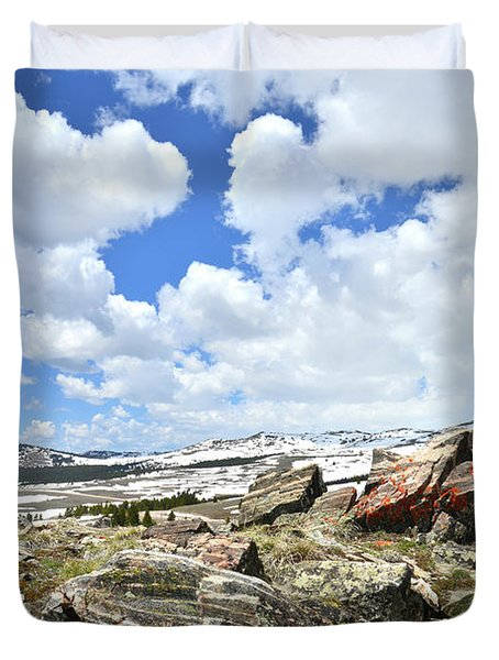 Crest Of Big Horn Pass In Wyoming Duvet Cover