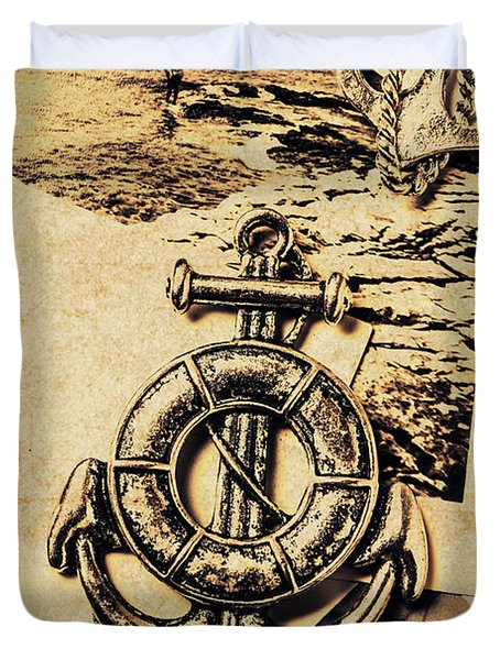 Crest Of Oceanic Adventure Duvet Cover