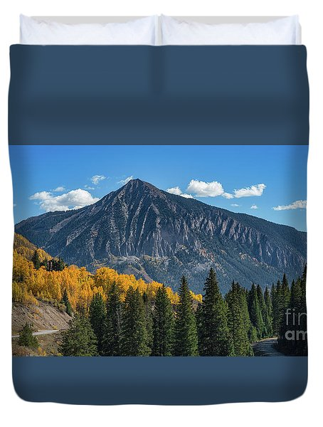 Crested Butte Mountain Duvet Cover