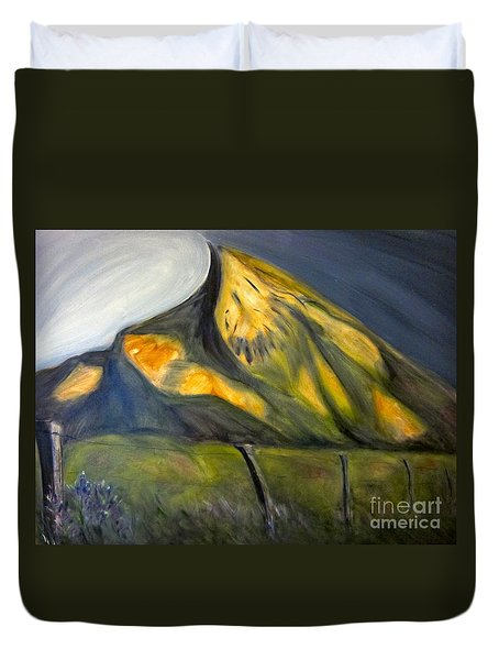 Crested Butte Mtn. Duvet Cover by Kathryn Barry