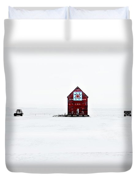 Duvet Cover featuring the photograph Crib Quilt by Julie Hamilton