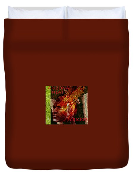Cricket Poster Duvet Cover by Suzanne Silvir