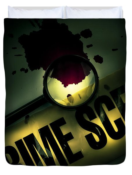 Crime Scene Investigation Duvet Cover