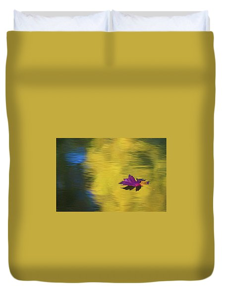 Duvet Cover featuring the photograph Crimson And Gold by Steve Stuller