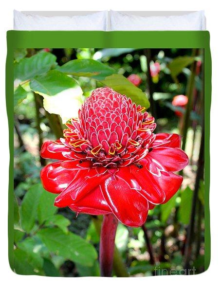 Crimson Bloom Duvet Cover by The Art of Alice Terrill