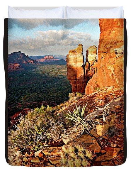Crimson Cliffs 08-064 Duvet Cover