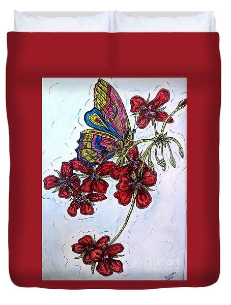 Crimson Fancy Duvet Cover by Kim Jones