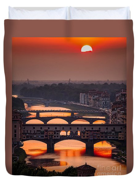Crimson River Duvet Cover by Giuseppe Torre