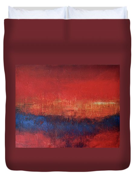 Crimson Sky Duvet Cover by Filomena Booth