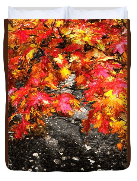 Crimson Splendor II Duvet Cover by Dan Carmichael
