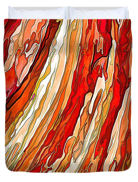 Crimson Tide Duvet Cover by ABeautifulSky Photography
