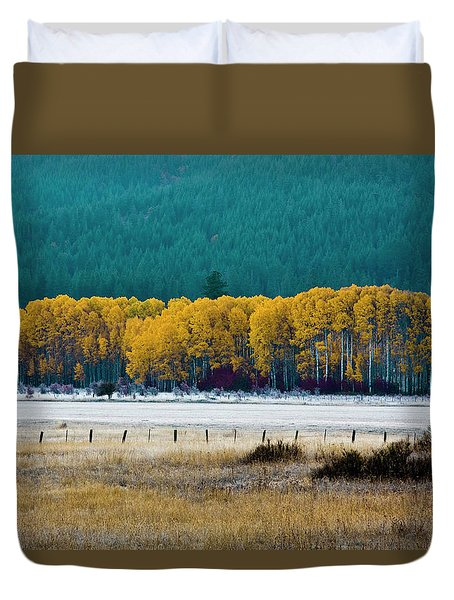 Crisp Aspen Morning Duvet Cover