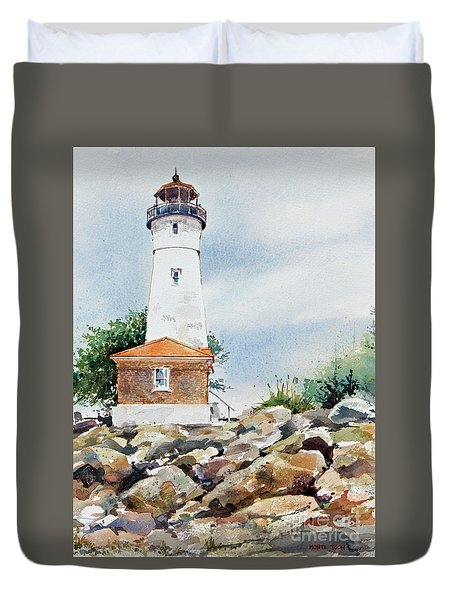 Crisp Lighthouse Duvet Cover