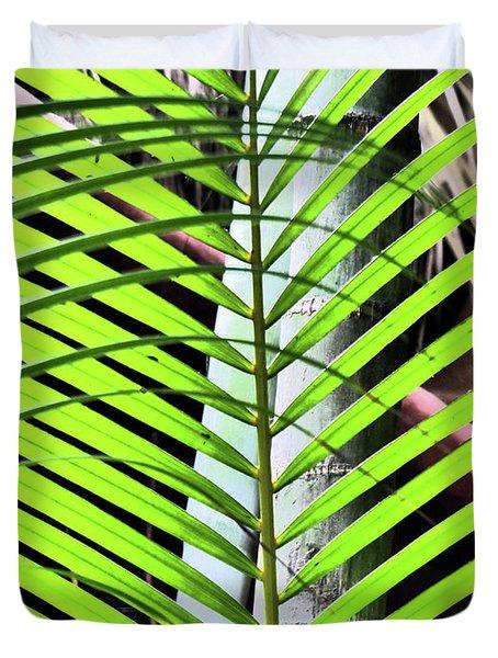 Crisscrossing Palms Duvet Cover