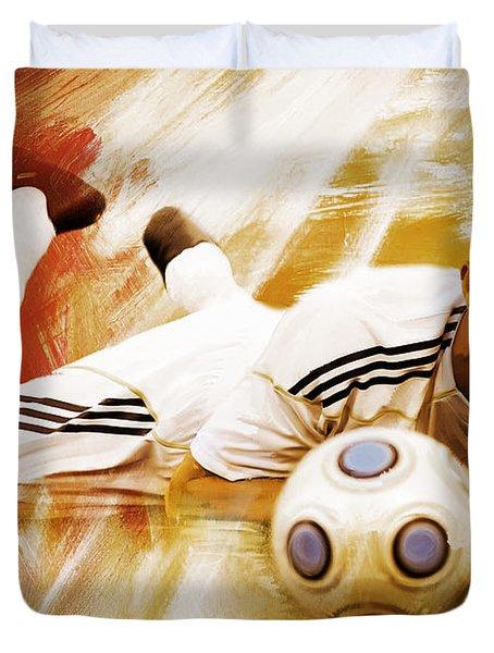 Cristiano Ronaldo 092f Duvet Cover by Gull G