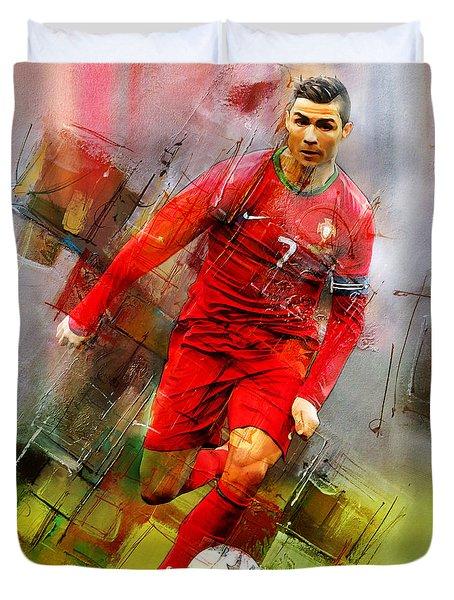 Cristiano Ronaldo  Duvet Cover by Gull G