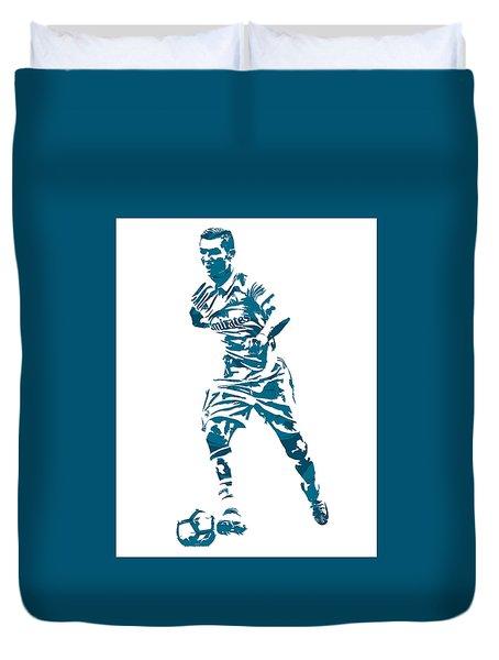 Cristiano Ronaldo Real Madrid Pixel Art 3 Duvet Cover