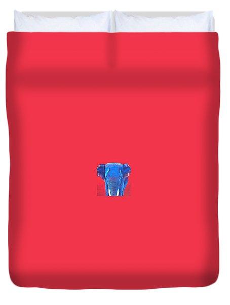 Critically Endangered Sumatran Elephant  Duvet Cover